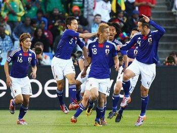 """「日本スタイル」は攻撃だけじゃない。4年前の""""勝利への執念""""を思い出せ。<Number Web> photograph by Getty Images"""