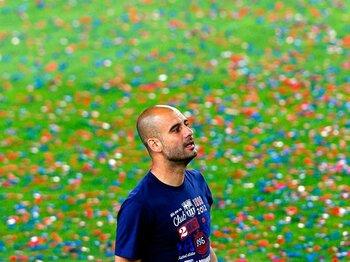 さよなら、グアルディオラ監督!国王杯決勝に見た愛弟子たちの激走。<Number Web> photograph by REUTERS/AFLO
