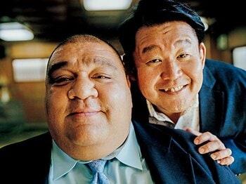 若乃花×武蔵丸、スペシャル対談。先輩横綱として相撲界に思うこと。<Number Web> photograph by Tetsuo Kashiwada