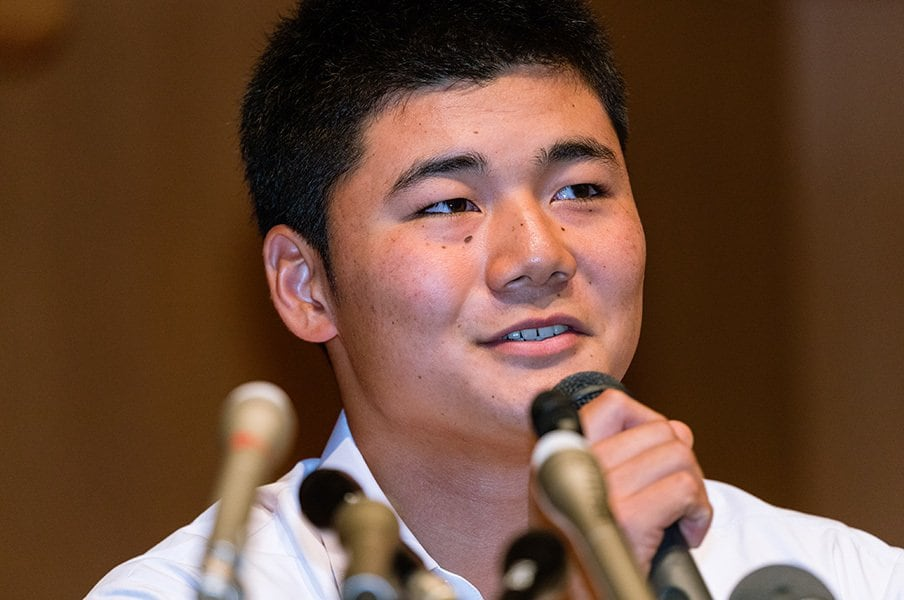 清宮幸太郎が初めて言ったプロ志望。「早実-早大」から外れていく覚悟。<Number Web> photograph by Shiroh Miyake
